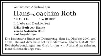 Traueranzeige Offenbach Post