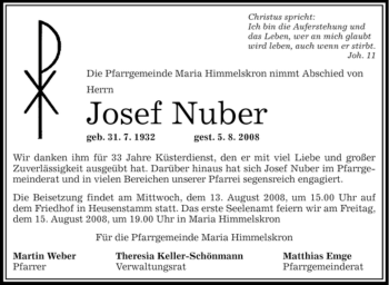 Profilbild von Josef Nuber