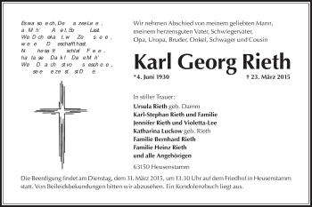 Zur Gedenkseite von Karl Georg