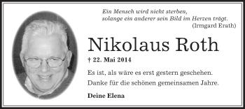 Zur Gedenkseite von Nikolaus
