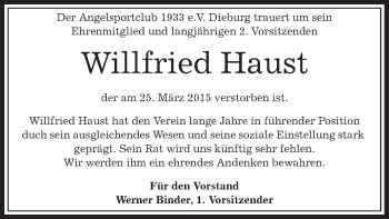 Zur Gedenkseite von Wilfried
