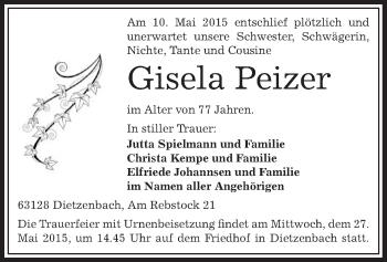 Zur Gedenkseite von Gisela