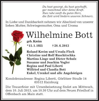 Profilbild von Wilhelmine Bott