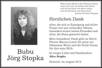Zur Gedenkseite von Bubu Jörg
