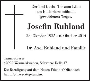 Zur Gedenkseite von Josefin