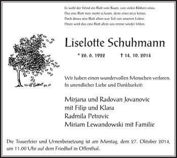 Zur Gedenkseite von Liselotte