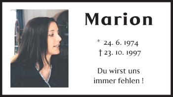 Zur Gedenkseite von Marion