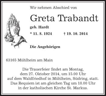 Zur Gedenkseite von Greta