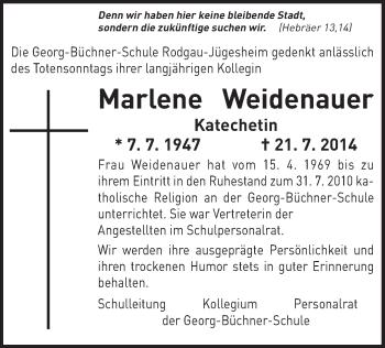 Zur Gedenkseite von Marlene