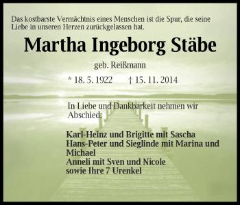 Zur Gedenkseite von Martha Ingeborg