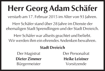 Zur Gedenkseite von Georg Adam