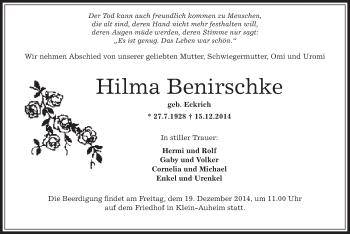 Zur Gedenkseite von Hilma
