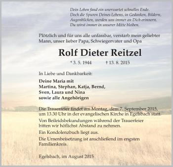 Zur Gedenkseite von Rolf Dieter
