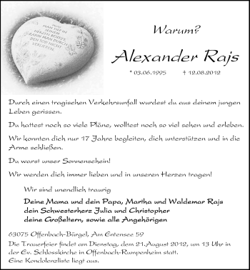 Profilbild von Alexander Rajs