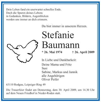 Profilbild von Stefanie Baumann