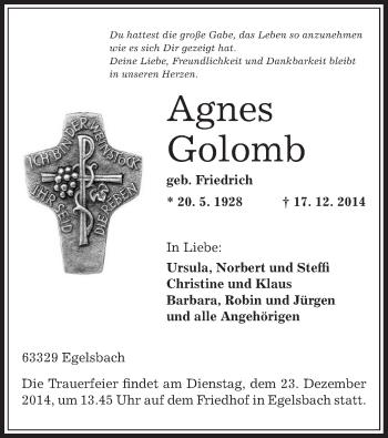 Zur Gedenkseite von Agnes