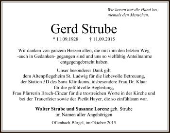 Zur Gedenkseite von Gerd