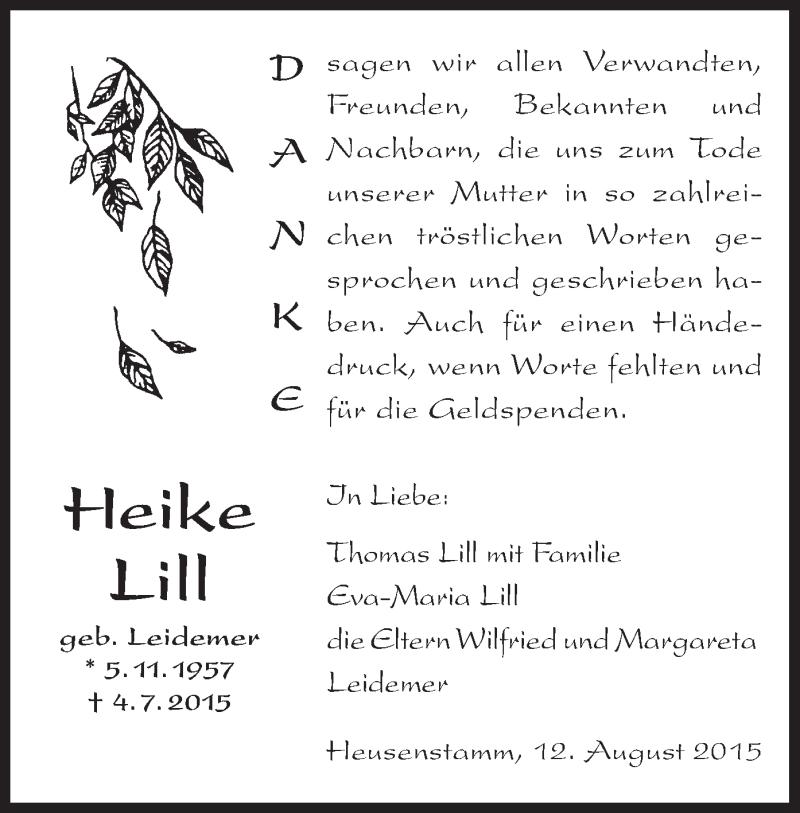 Anzeige von  Heike Lill