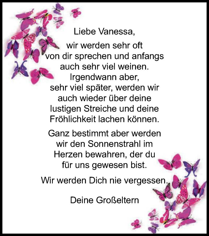 Traueranzeige für Vanessa Gerhardt vom 27.10.2018 aus Offenbach