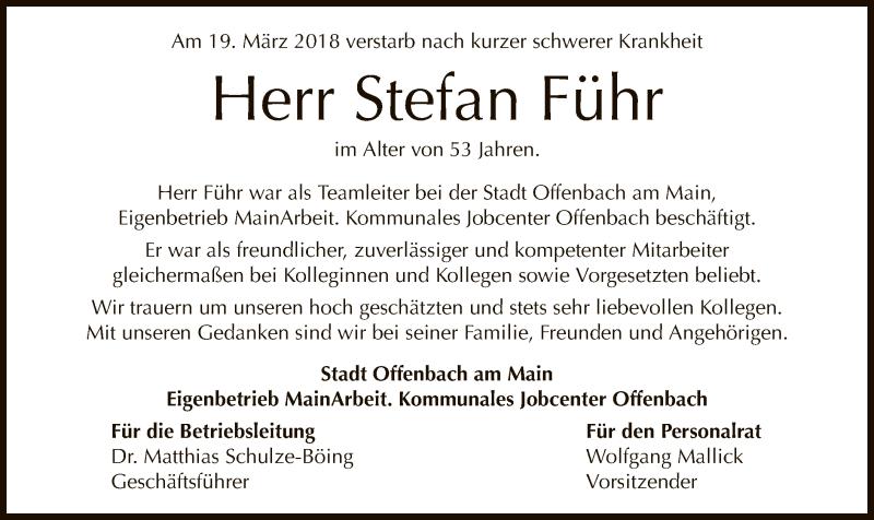 Anzeige von  Stefan Führ