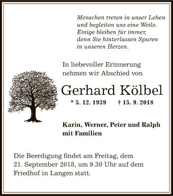 Gerhard Kölbel