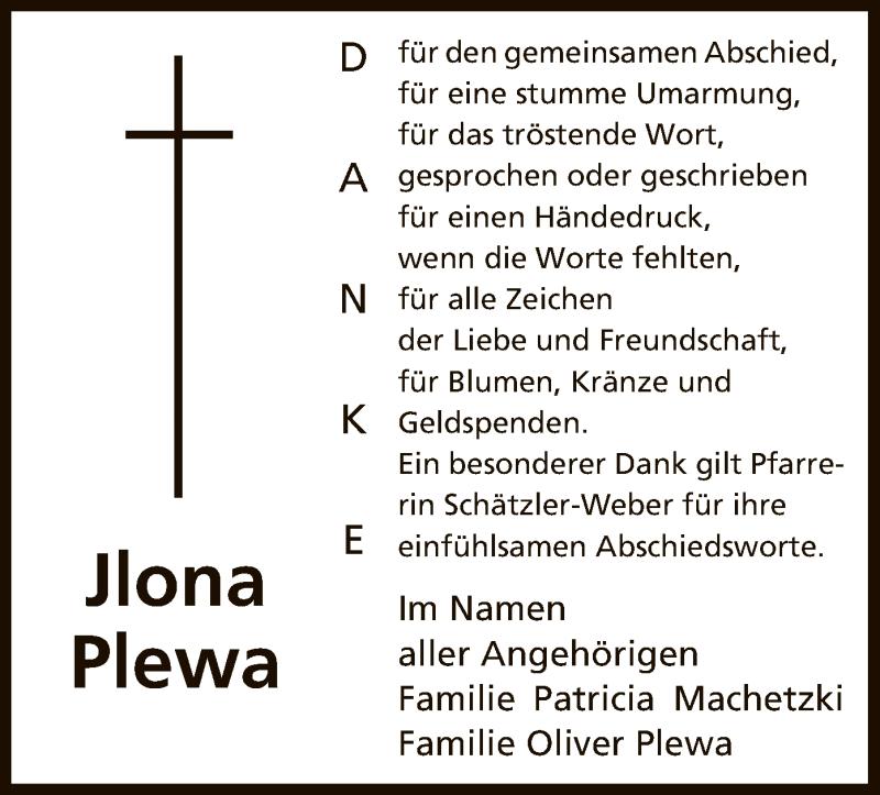 Anzeige von  Jlona Plewa