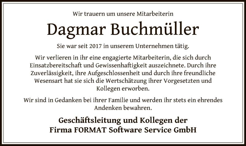 Traueranzeigen Von Dagmar Buchmüller