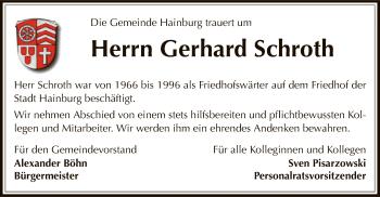 Traueranzeige für Gerhard Schroth vom 15.05.2019 aus Offenbach