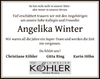 Traueranzeige für Angelika Winter vom 11.07.2019 aus Offenbach