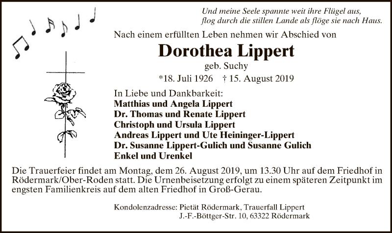 Anzeige von  Dorothea Lippert