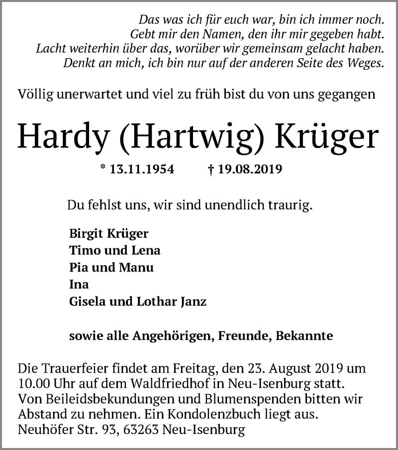 Anzeige von  Hardy Krüger