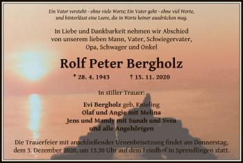 Traueranzeige von Rolf Peter Bergholz von OF