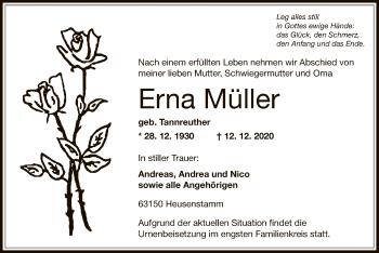 Traueranzeige von Erna Müller von OF
