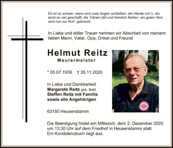 Traueranzeige von Helmut Reitz von OF