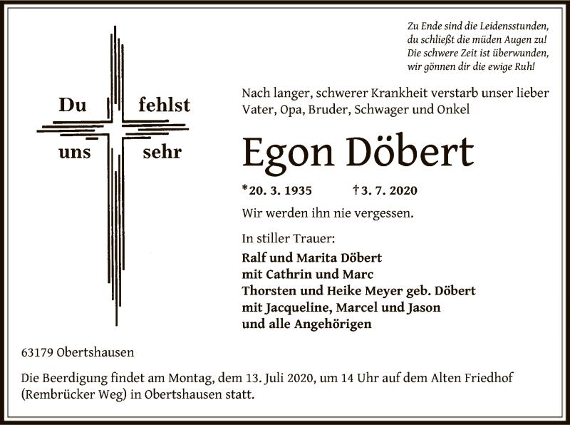 Anzeige von  Egon Döbert