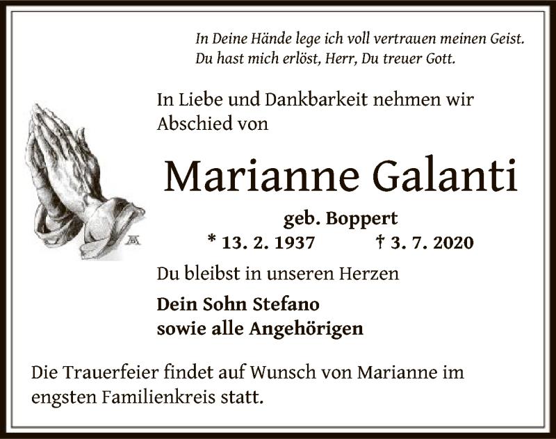 Anzeige von  Marianne Galanti