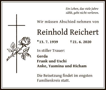 Traueranzeige von Reinhold Reichert von OF