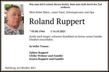 Traueranzeige von Roland Ruppert von OF