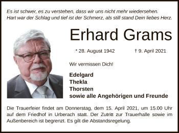 Traueranzeige von Erhard Grams von OF