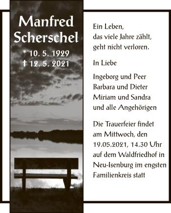 Traueranzeige von Manfred Scherschel von OF