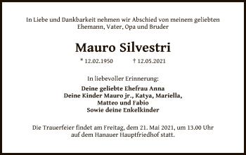 Traueranzeige von Mauro Silvestri von OF
