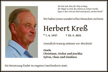 Traueranzeige von Herbert Kreß von OF