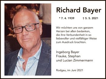 Traueranzeige von Richard Bayer von OF