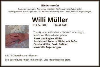 Traueranzeige von Willi Müller von OF