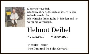 Traueranzeige von Helmut Deibel von OF